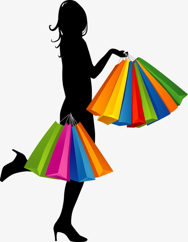 650x835 Cartoon Fashion Girl Shopping, Cartoon Vector, Fashion Vector