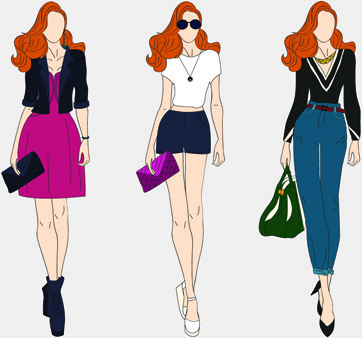 362x338 Vector Fashion Models Free Vector Download (5,131 Free Vector) For