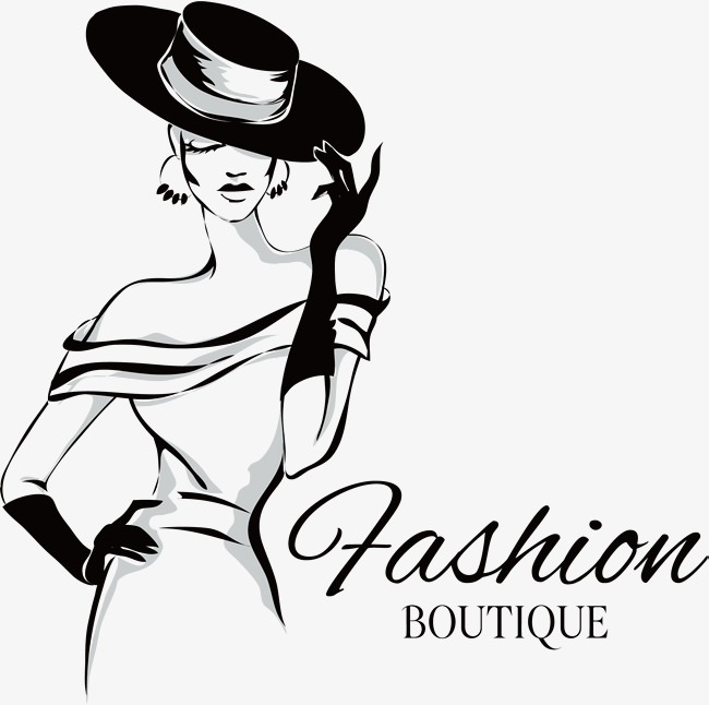 650x646 Fashion Girl Vector, Wide Canopy, Sketch, Black And White Png And