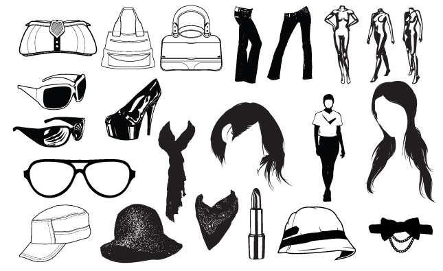 645x395 Fashion Vector Pack For Adobe Illustrator