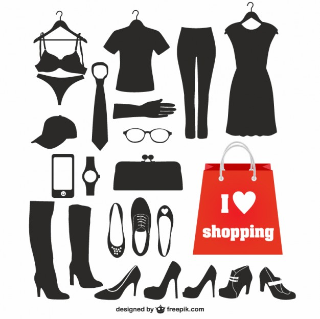 626x624 Fashion Silhouettes Free Vector 123freevectors