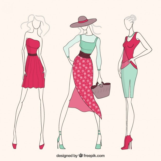 626x626 Fashion Girls Vector Free Download