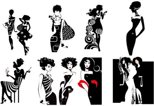 499x343 Fashion Silhouette Vector Free Vector Download (9,604 Free Vector