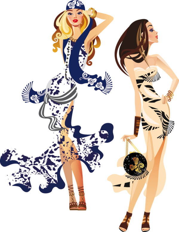600x776 Fashion Woman Illustration Vector 3 Download Free Vectors