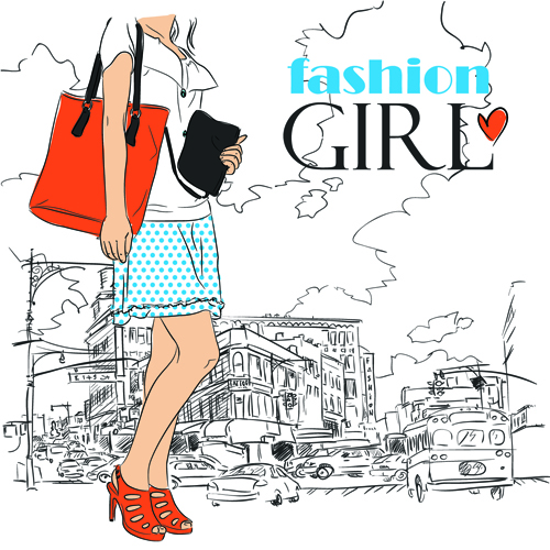 500x500 Set Of Different Fashion Girl Vector 01 Free Download