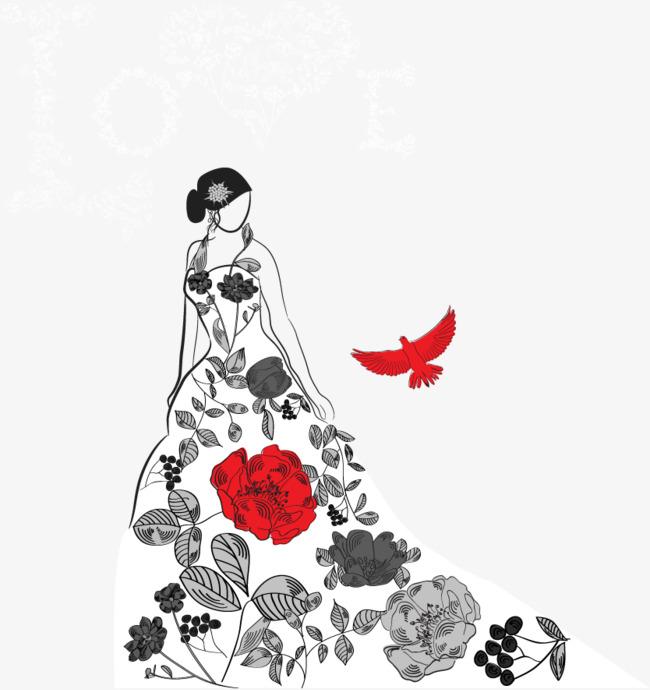 650x690 Vector Creative Fashion Fashion Show Dress, Fashion Vector, Dress
