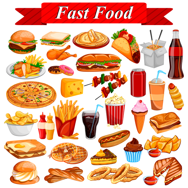 600x600 Fast Food Vector Material