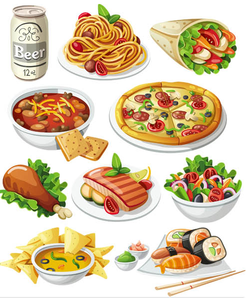 493x598 Fastfood Vector Graphic Ai Format Free Vector Download