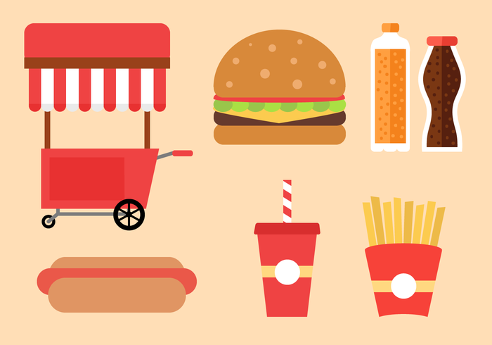 700x490 Free Fast Food Vector Stock Images