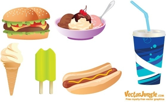 557x344 Junk Food Vector Free Vector Download (5,583 Free Vector) For