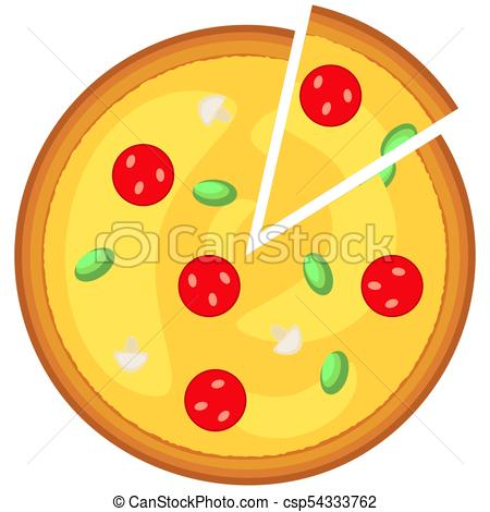 450x470 Colorful Pizza Slice Fast Food Icon Poster. Junk Food Vector