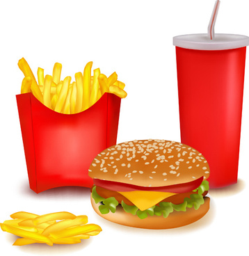 358x368 Delicious Fast Food Vector Set Png Images, Backgrounds And Vectors