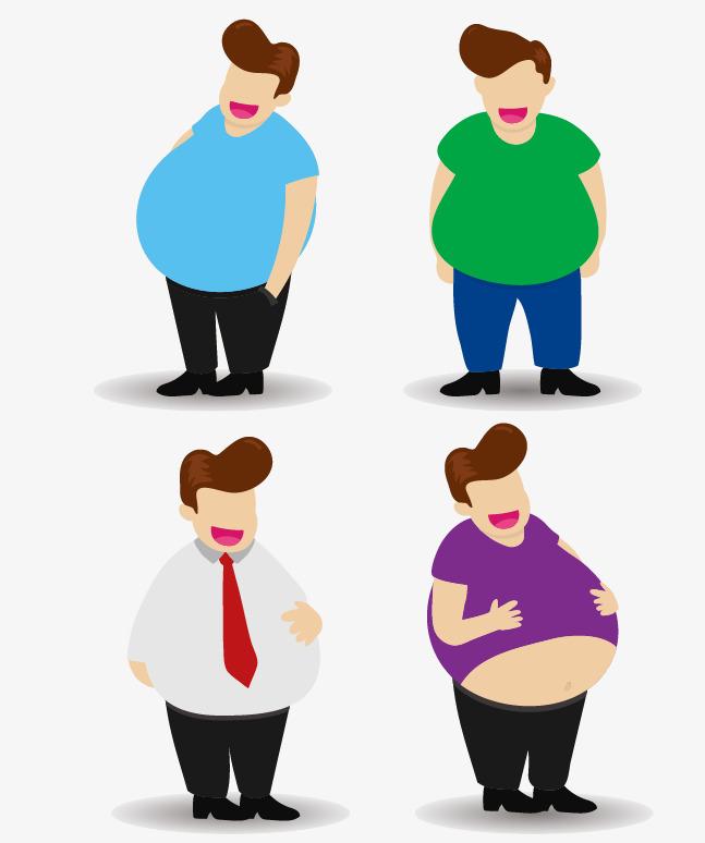 647x774 Vector Cartoon Fat Man Belly Paunch, Cartoon Vector, Man Vector