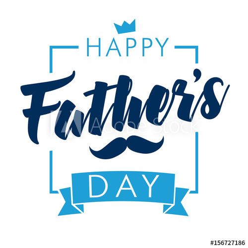 500x500 Happy Fathers Day Calligraphy Light Banner. Happy Father`s Day