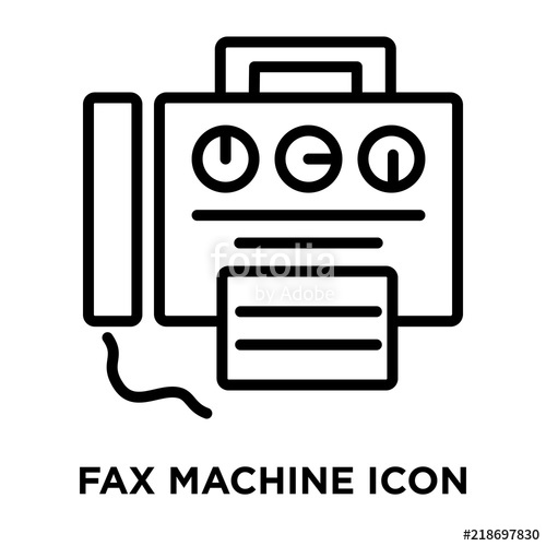 500x500 Fax Machine Icon Vector Isolated On White Background, Fax Machine
