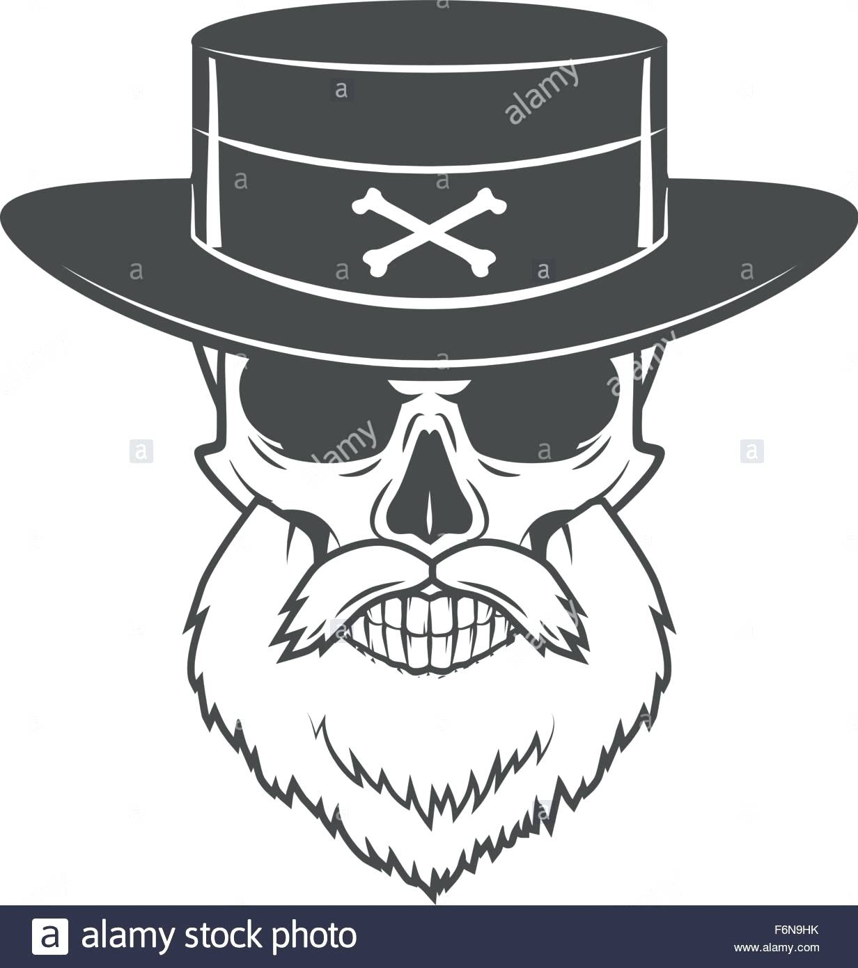 1232x1390 Template Fedora Hat Template Head Hunter Skull With Beard And