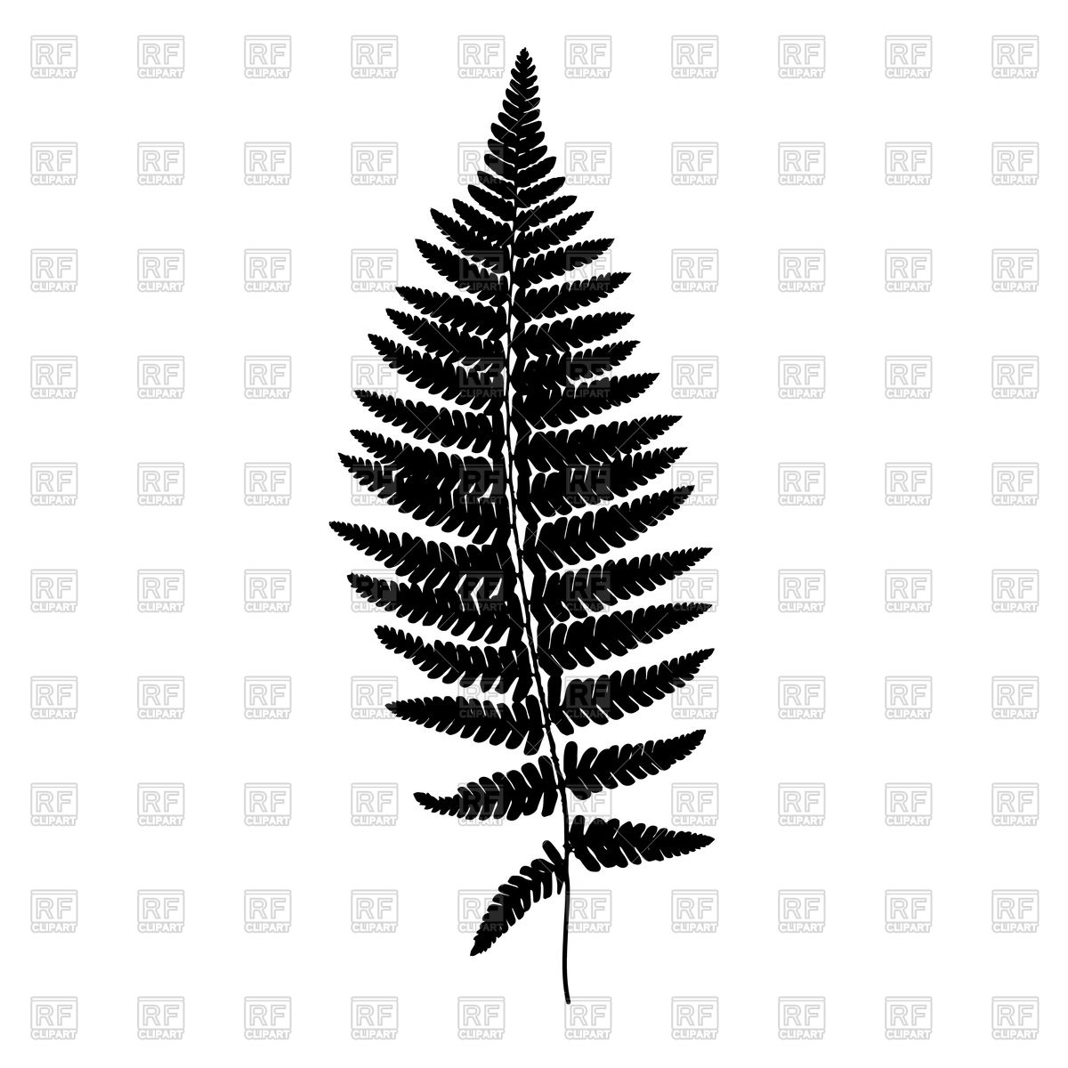 1200x1200 Fern Leaf Black Silhouette Vector Image Vector Artwork Of Plants