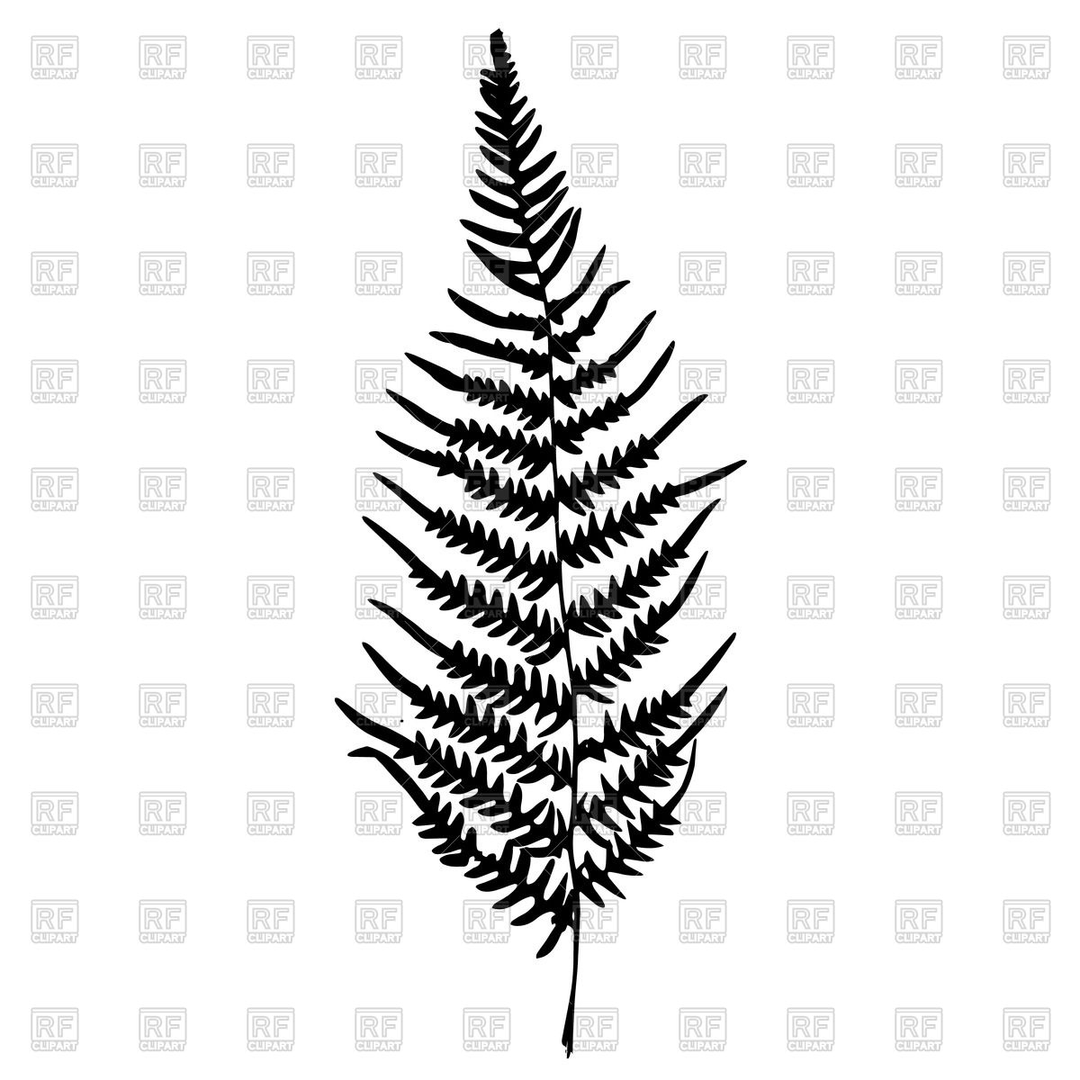 1200x1200 Silhouette Of Leaf Fern Vector Image Vector Artwork Of