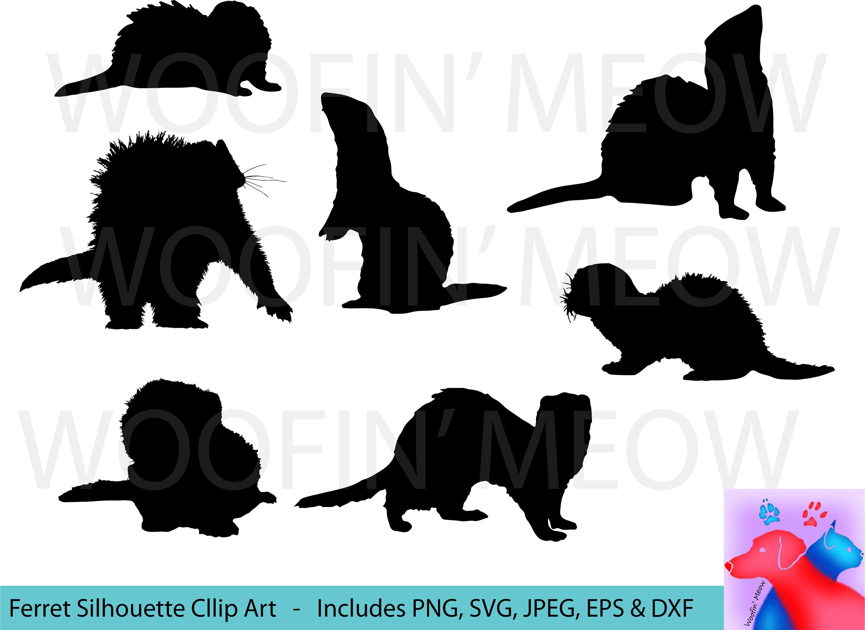 3000x2182 Ferret Svg Ferret Silhouette Ferret Clipart Ferret Vector Etsy