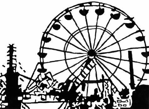 474x348 Simple Ferris Wheel Vector. Simple Ferris Wheel Drawing