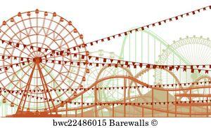 Ferris Wheel Vector Art