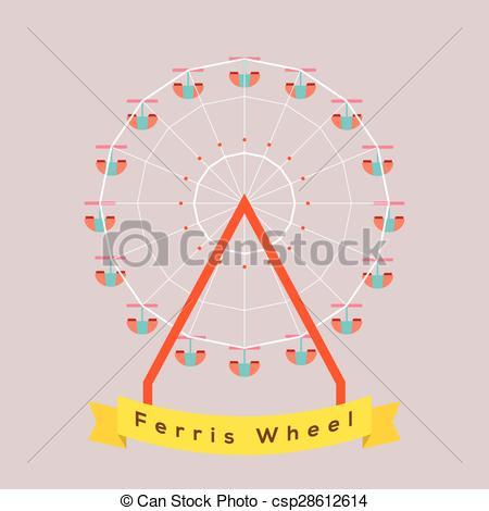450x470 Ferris Wheel. Ferris Wheel Vector Illustration.