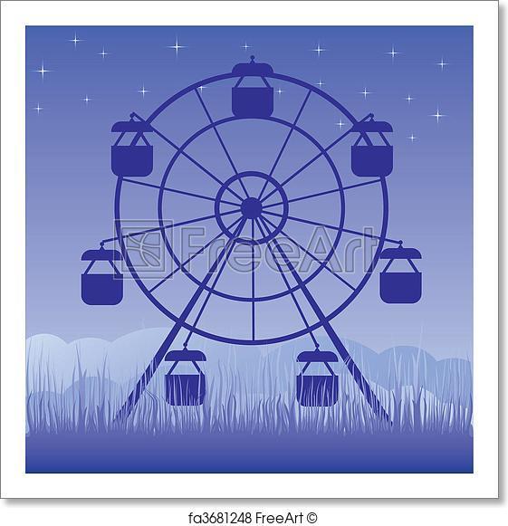 561x581 Free Art Print Of Ferris Wheel Vector Illustration. Ferris Wheel