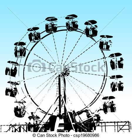 450x470 Grunge Ferris Wheel. An Image Of A Grunge Ferris Wheel.