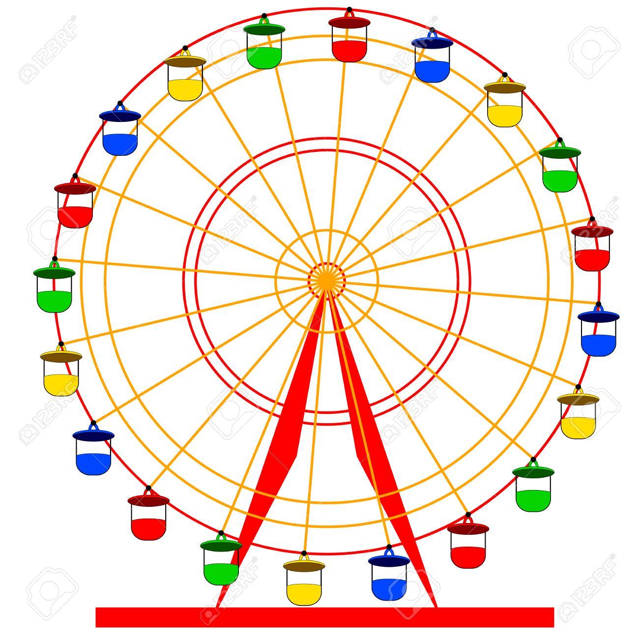 Ferris Wheel Vector Free