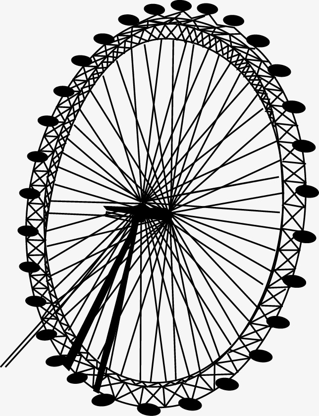 644x840 Ferris Wheel, Wheel Vector, Sketch, Line Drawing Png And Vector