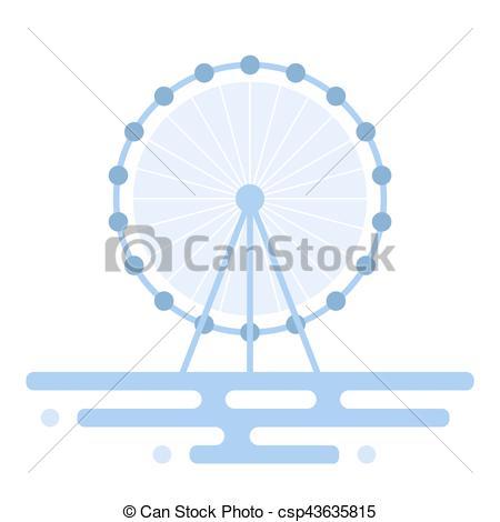 450x470 Illustration Of Ferris Wheel. Vector Illustration Of Ferris Wheel