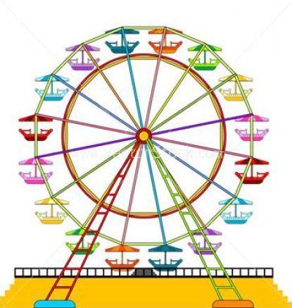 415x437 Carnival Ferris Wheel Clip Art Ferris Wheel Vector Free Pictures