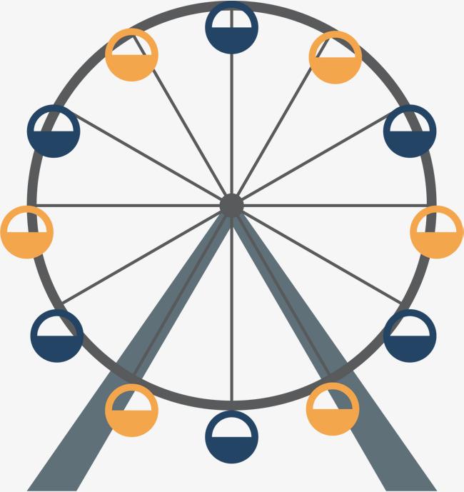 650x689 Cartoon Ferris Wheel, Cartoon Vector, Wheel Vector, Ferris Wheel
