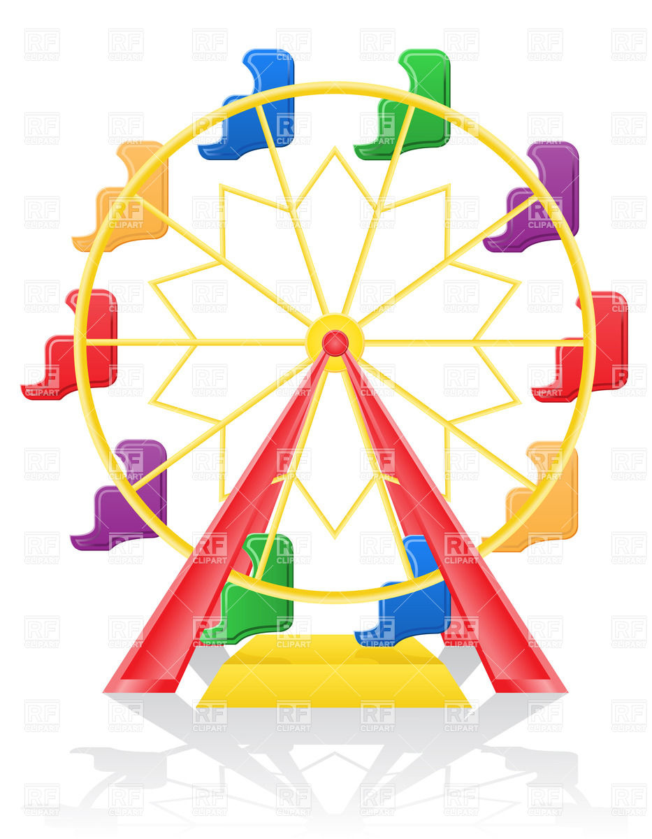 933x1200 Colored Ferris Wheel Vector Image Vector Artwork Of Objects