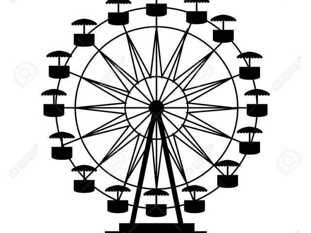 640x480 Drawn Ferris Wheel Free Vector 5
