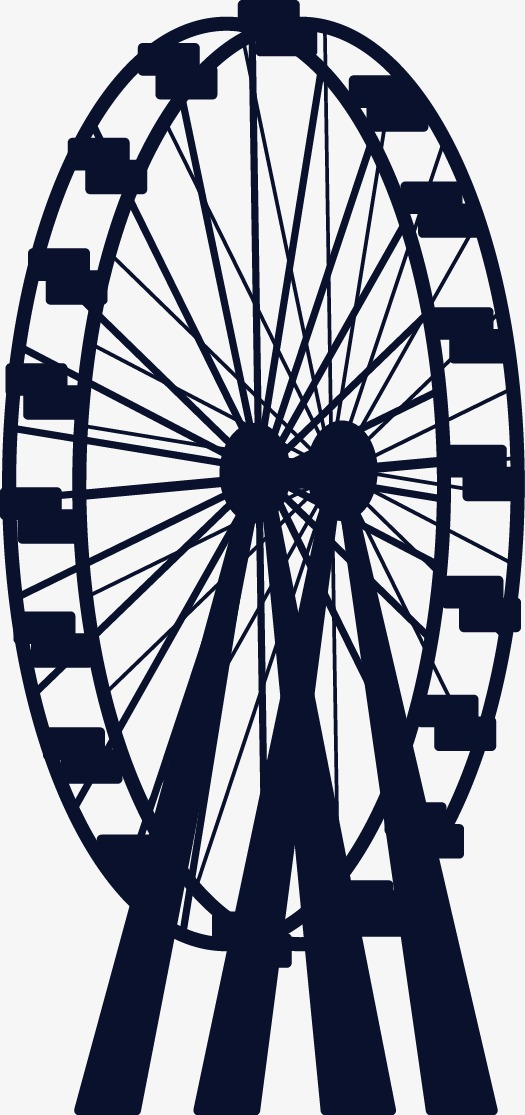525x1115 Ferris Wheel, Wheel Vector, Roller Coaster Png And Vector For Free