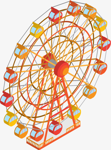 387x523 Ferris Wheel Vector, Ferris Wheel, Entertainment, Material Png And