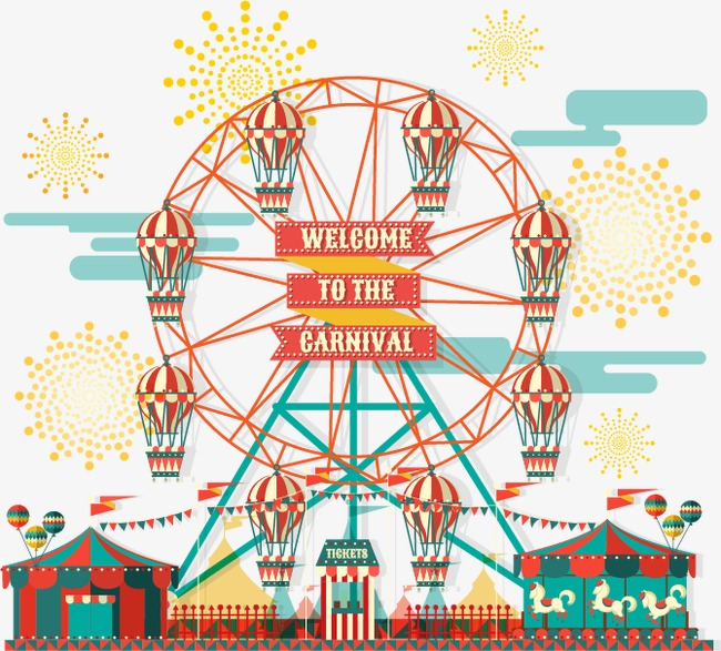 650x587 Vector Ferris Wheel, Wheel Vector, Ferris Wheel, Cartoon Png And