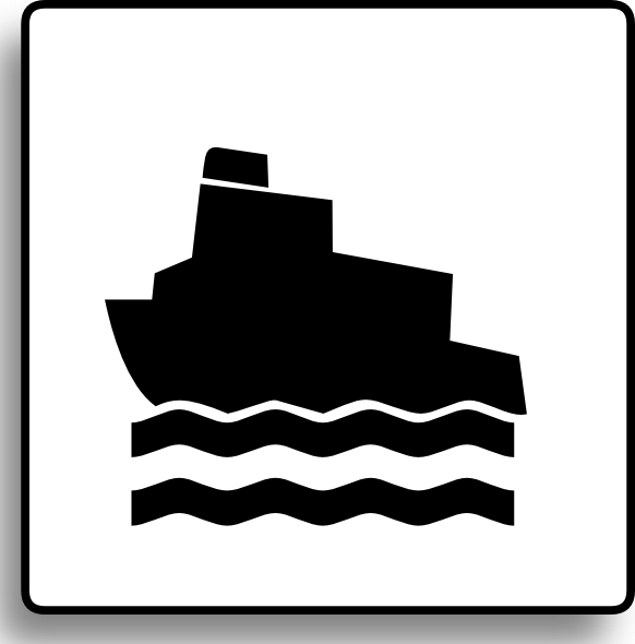 582x590 Ferry Icon For Use With Signs Or Buttons Clip Art Free Vector