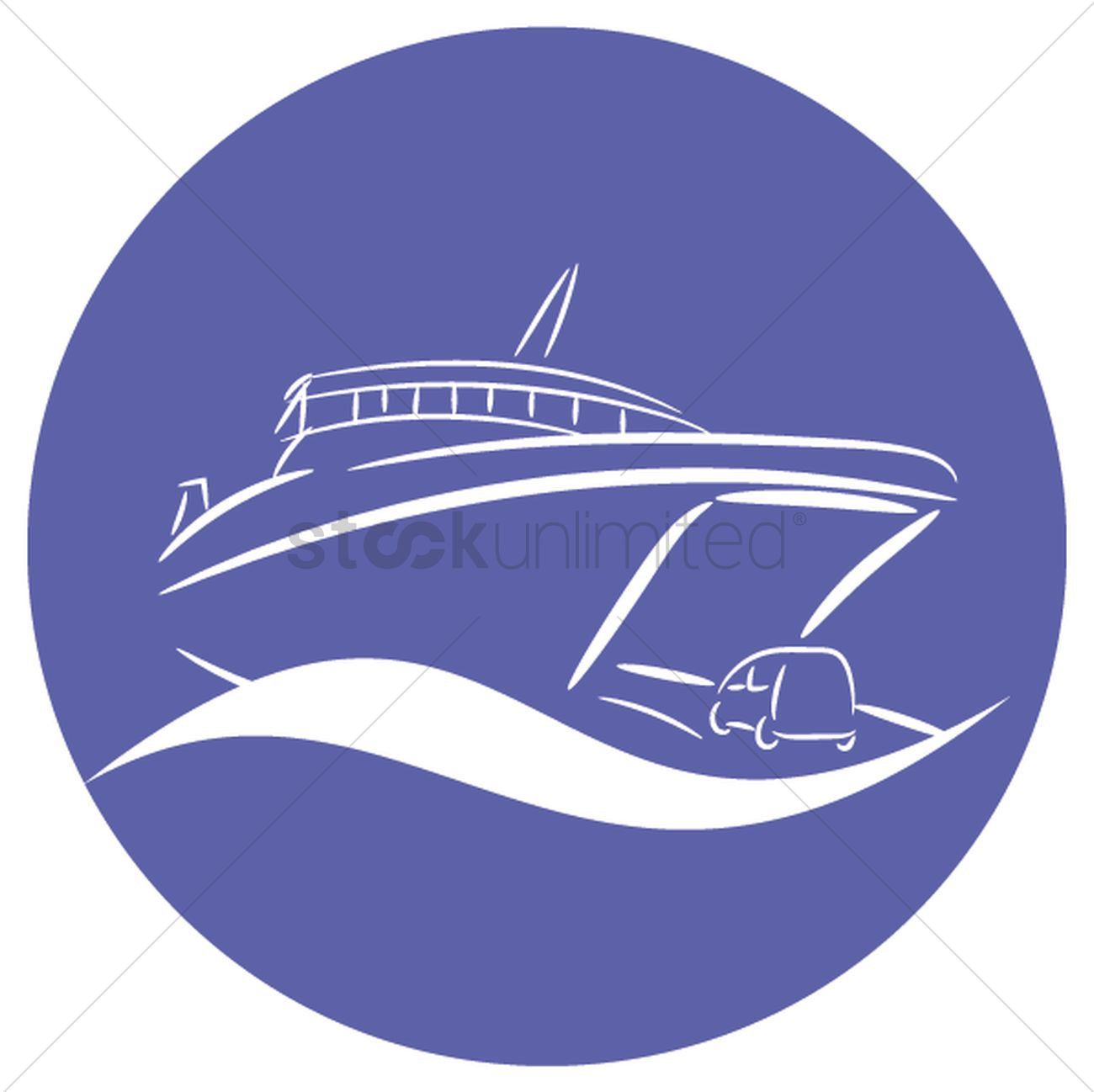 1300x1298 Ferry Vector Image