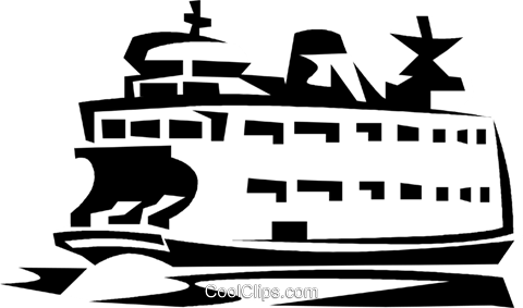 480x283 Ferry Boat Royalty Free Vector Clip Art Illustration Vc021115