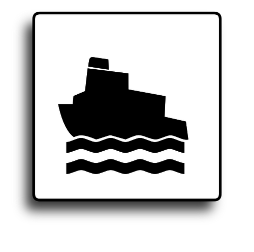 500x495 Ferry Boat Road Sign Vector Image Public Domain Vectors