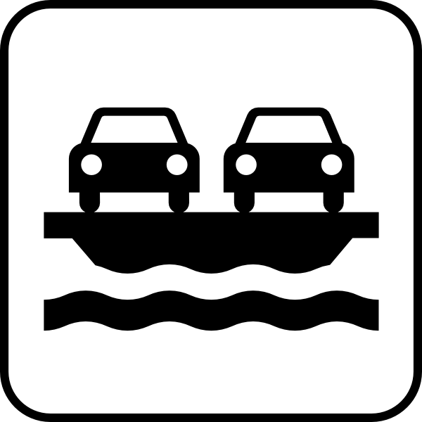 600x600 Car Ferry Clip Art Free Vector 4vector
