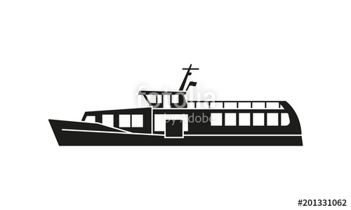 500x300 Ferry Boat Silhouette Stock Image And Royalty Free Vector Files