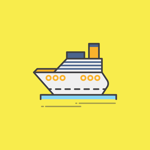 626x626 Illustration Of A Passenger Ferry Vector Free Download