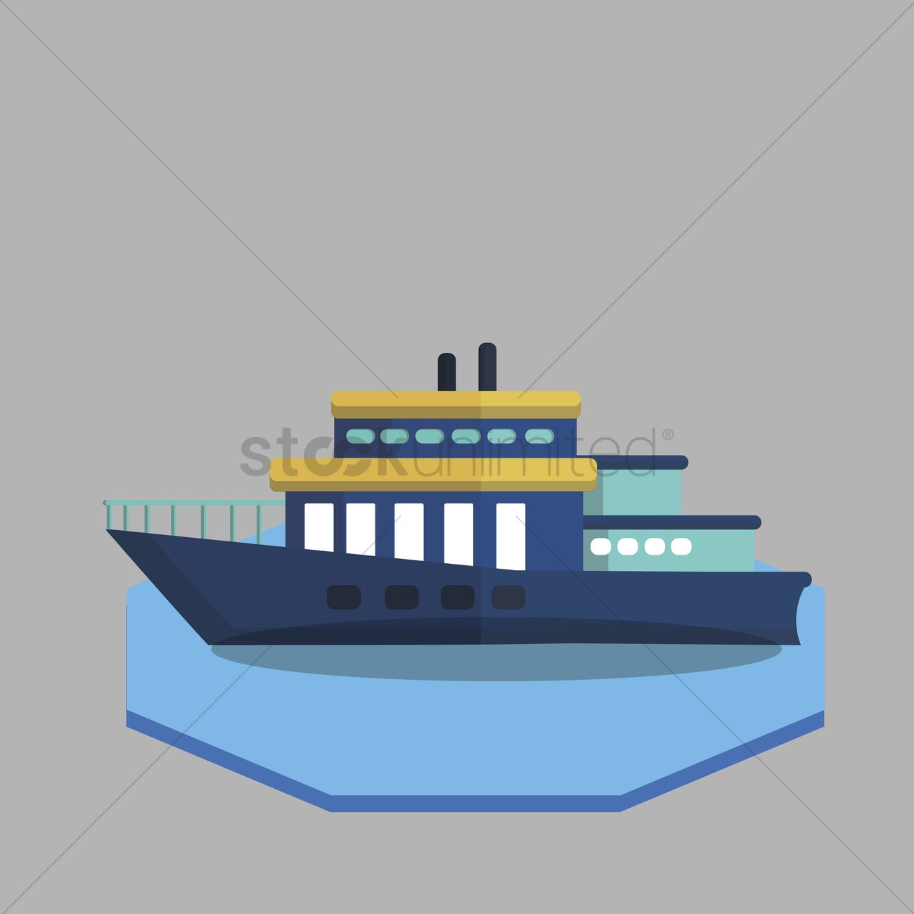 1300x1300 Illustration Of Ferry Vector Image