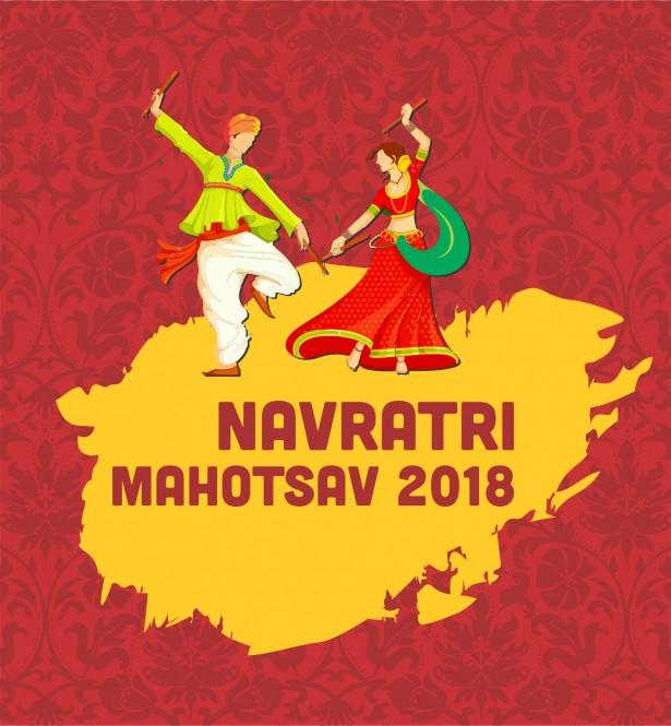 615x665 Goodpik Navratri Festival Vector Background