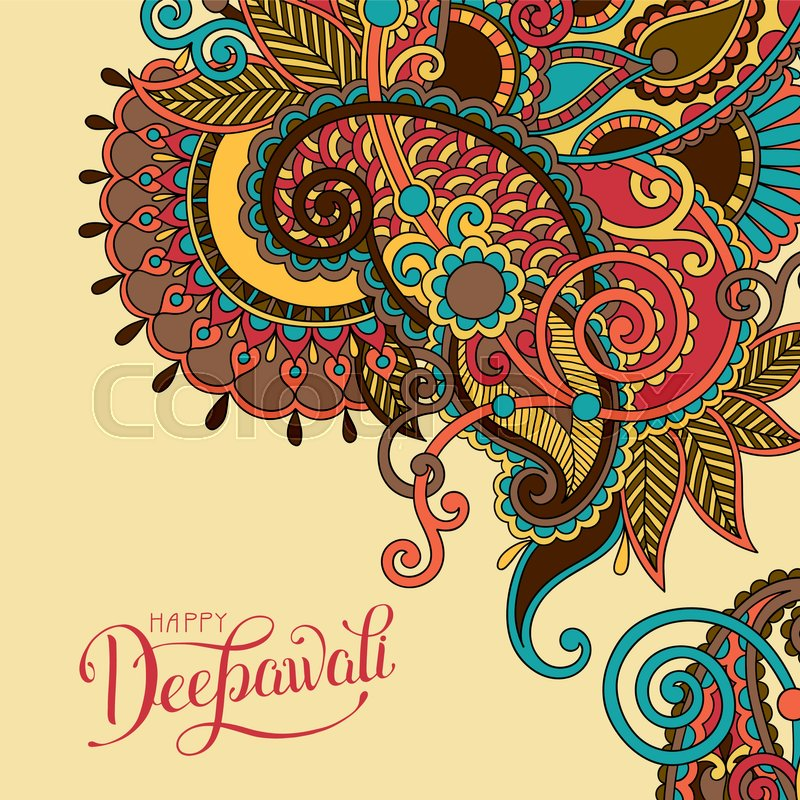 800x800 Happy Deepawali Greeting Card With Hand Written Inscription To