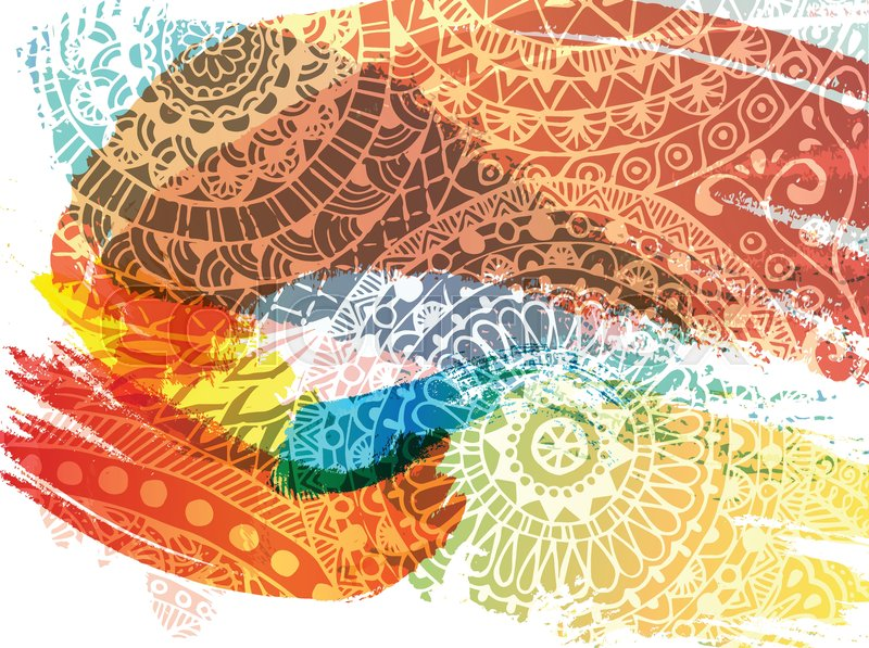 800x597 Happy Holi Festival Vector Banner Design With Lettering, Paint
