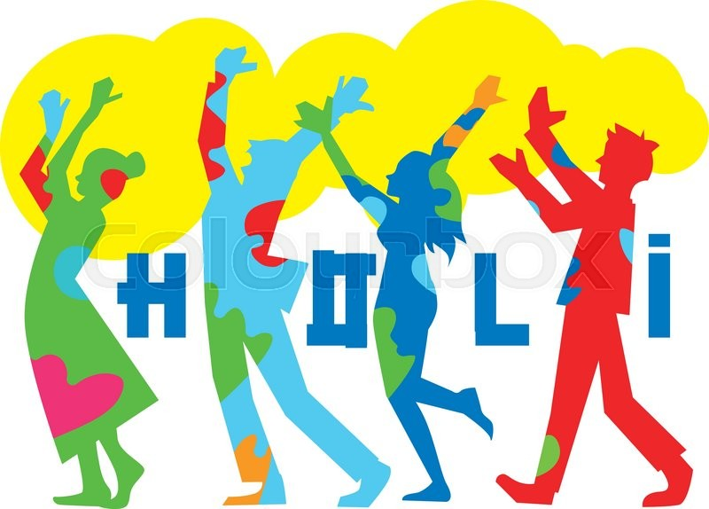 800x574 Holi Festival, Vector Illustration. The Traditional Indian
